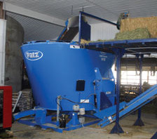 Patz Stationary mixer located in Barn