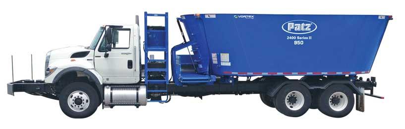 patz vertical truck mounted tmr mixers patz
