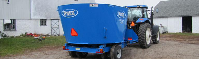 1200 Series Trailer Vertical Mixer | Patz