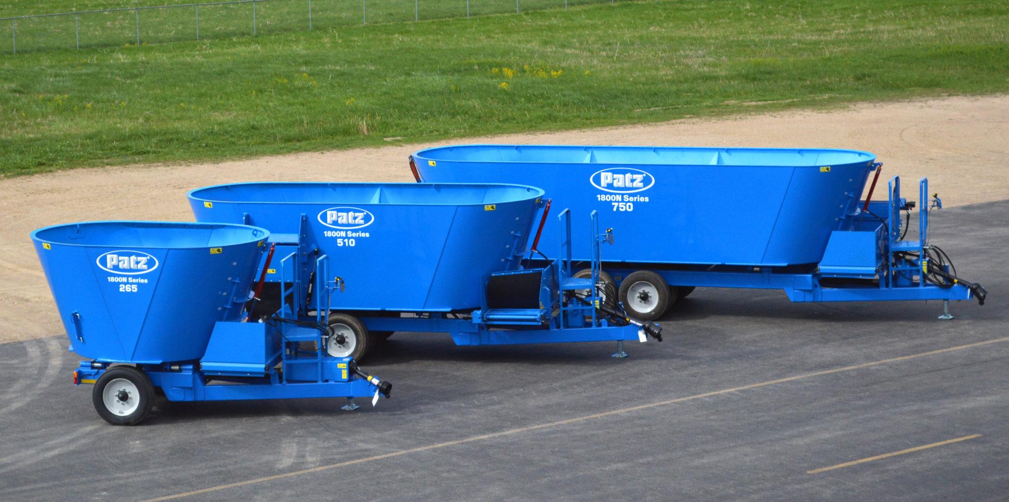 Patz 1800N Series Vertical Mixers